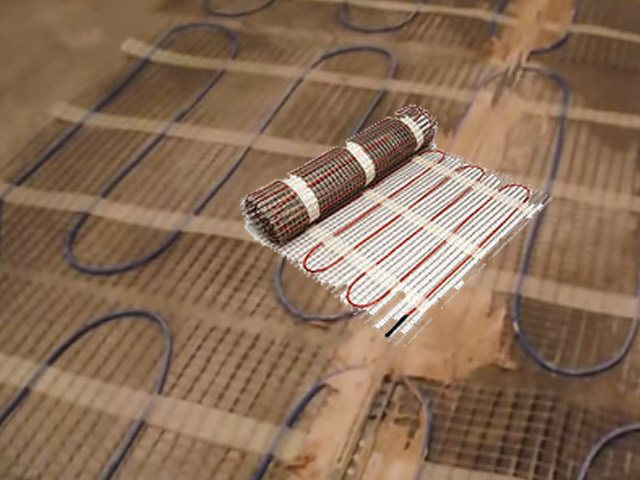 Chauffage au sol électrique.