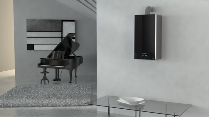 Chaudière à condensation Ariston Alteas One à l'intérieur du salon