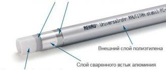 Installation de tuyaux XLPE avec raccords instantanés Rehau