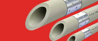 PPR avec renfort en aluminium