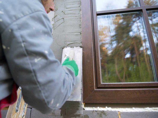 exemple d'imperméabilisation des fenêtres de maison avec du caoutchouc liquide