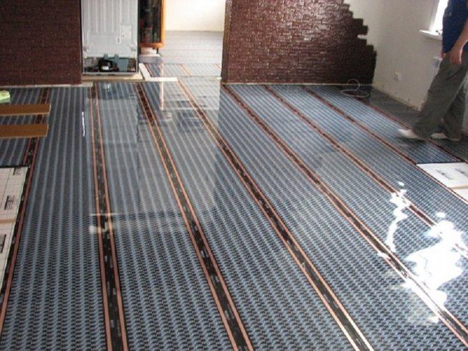 Installation de chauffage au sol