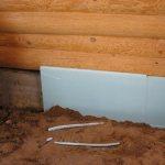 Isolation du sous-sol de la baignoire avec penoplex
